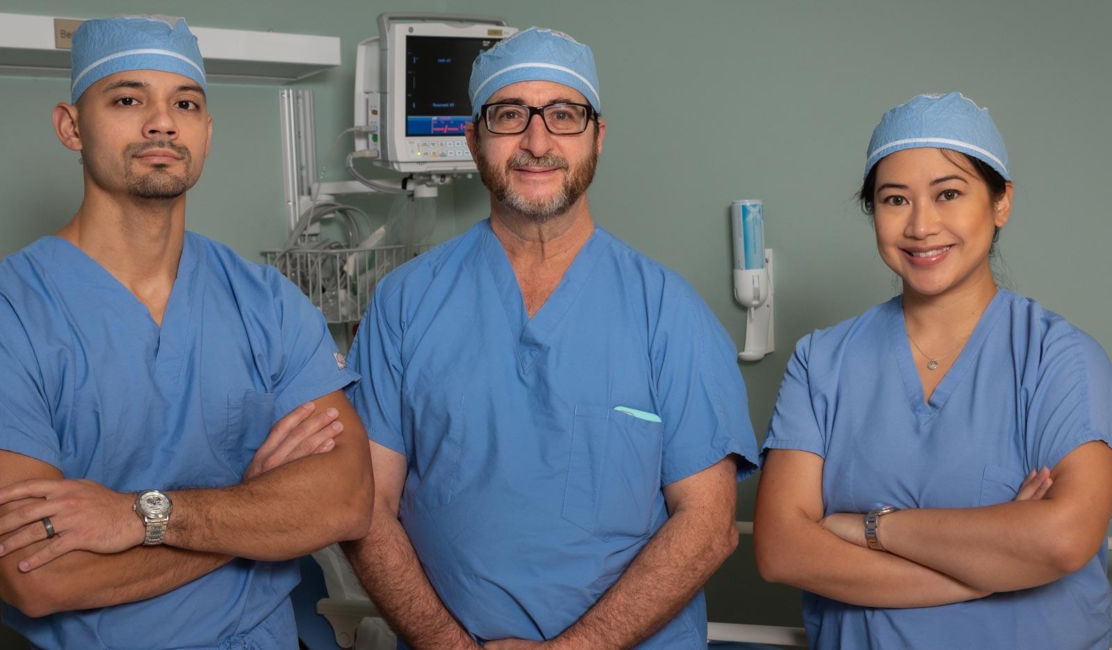 Three Doctors in Scrubs